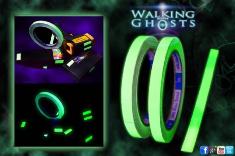 2x Glow in the Dark Self Luminous Tape, Ghost Hunt Paranormal Investigation UK